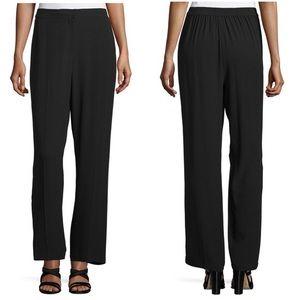 Eileen Fisher 100% Silk Straight Leg Black Pants